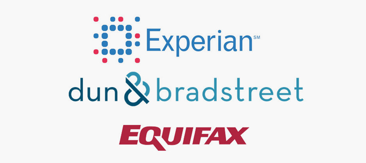 Credit score companies such as Experian are used to calculate your credit score.